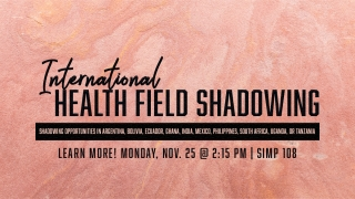 Graphic for Int'l Health Shadowing