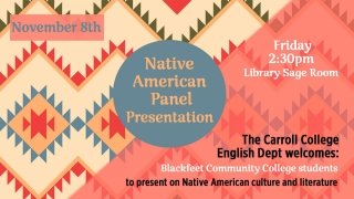Native American Panel Presentation Graphic