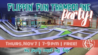 Flipping Fun Trampoline Party graphic