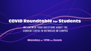 Student COVID Roundtable graphic