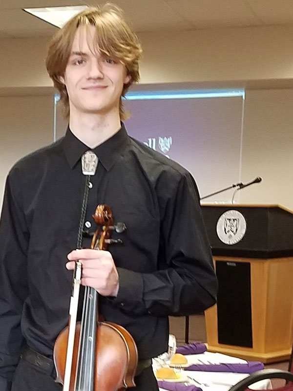 Michael Larson, Viola player, for a special event in the cube, spring of 2017