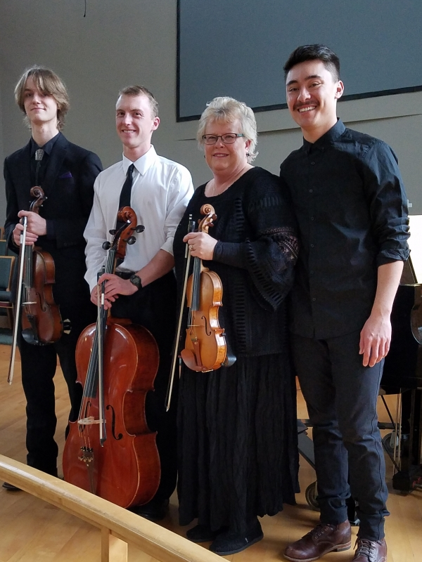 At st. Paul's Methodist Church in Helena. We performed with the Carroll College Choir. Michael Larson, David Woolston, Linda Meuret director and pianist Zane Clarke.
