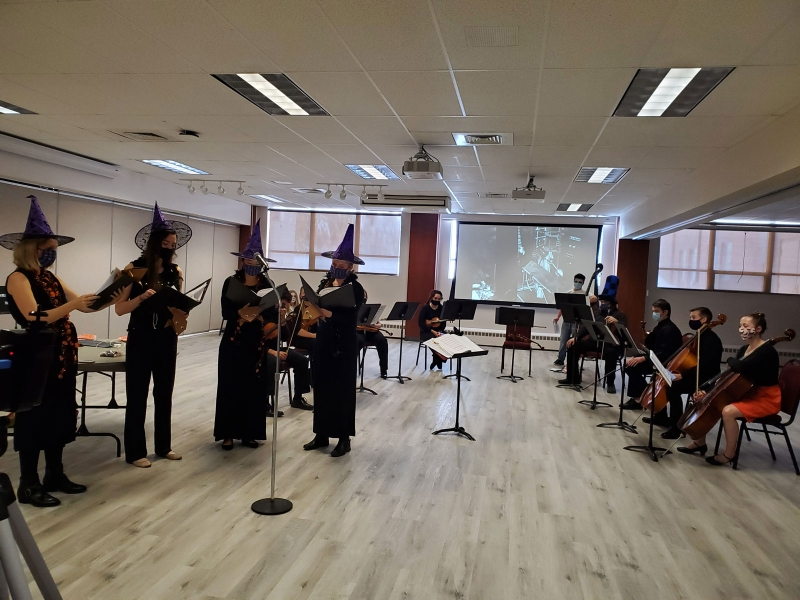 Pictures of CC String Ensemble Halloween Spooktacular concert