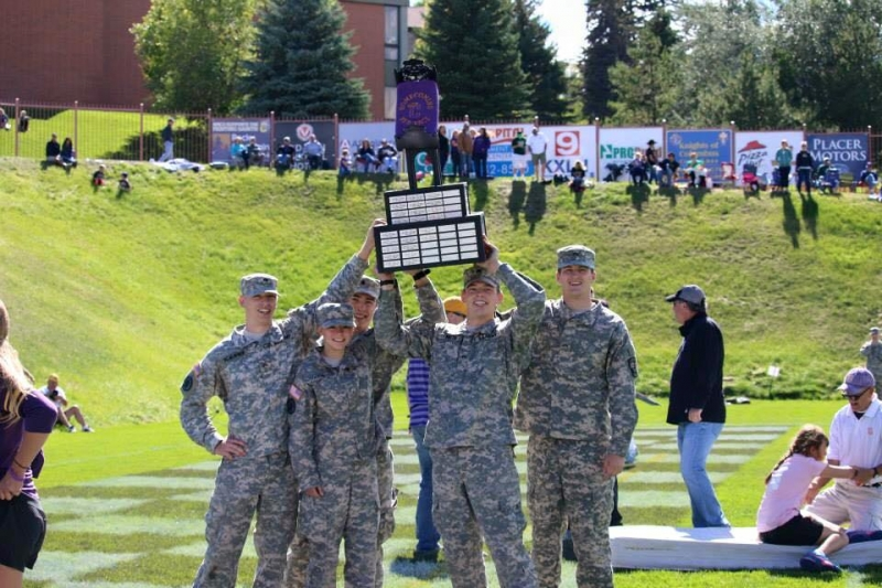 ROTC champion bed racers!