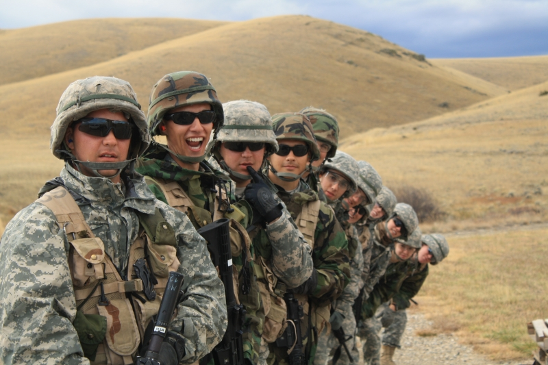 Cadets at Fort Harrison during Fall FTX