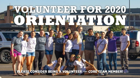 Become an 2020 Orientation Core Team graphic