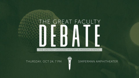 The Great Faculty Debate graphic