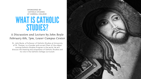 What is Catholic Studies? event graphic