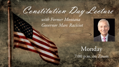 Constitution Day Lecture: Marc Racicot graphic