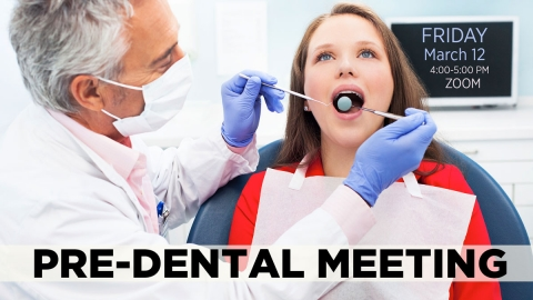 Pre-Dental Meeting graphic
