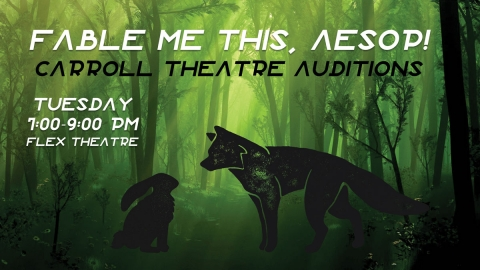 Carroll Theatre Auditions graphic