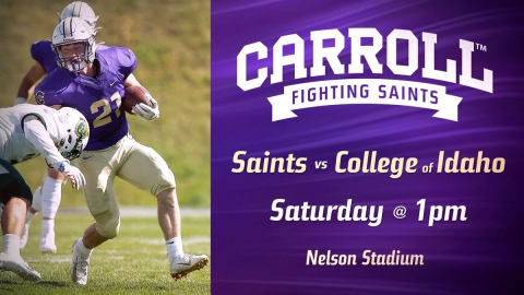 Football vs College of Idaho graphic