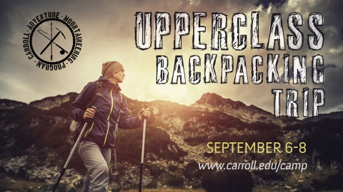 Upperclass Backpacking Trip graphic