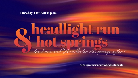 Headlamp Run and Hot Springs Graphic