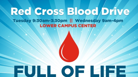 Red Cross Blood Drive graphic