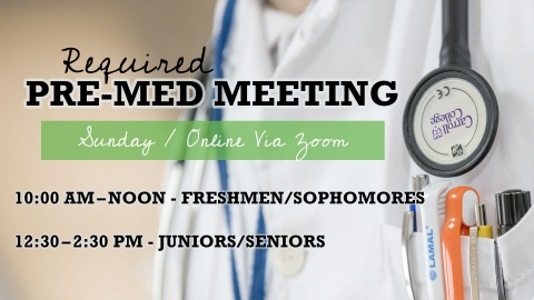 Pre-Med Meeting graphic