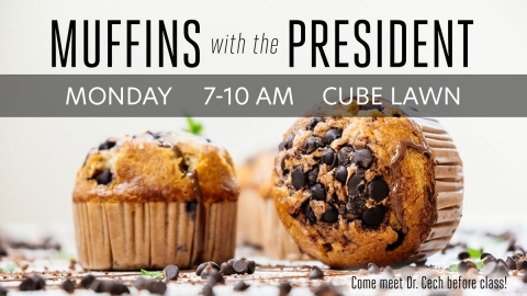 Muffins with the President graphic