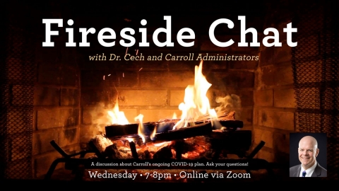 Fireside Chat with Dr. Cech graphic