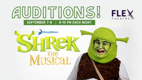 Shrek the Musical Auditions graphic