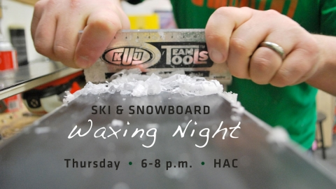 Free Ski Waxing Clinic at HAC graphic