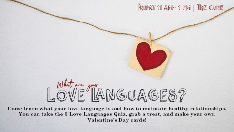 Graphic for Love Language Event