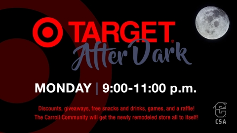 Target After Dark black and red graphic