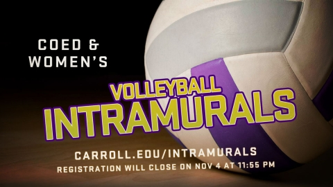 Intramural VB Deadline graphic
