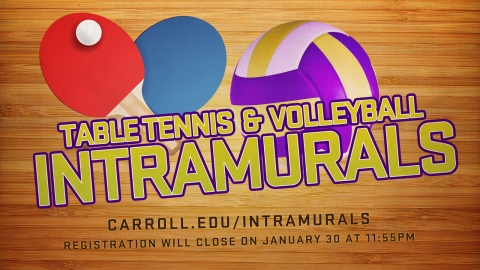 Intramurals Signup Deadline graphic