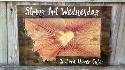 String Art Wednesday graphic