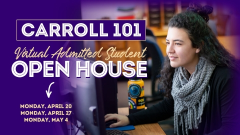 Admitted Student Open House Graphic