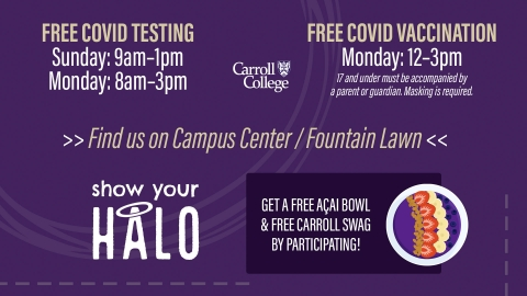 Free COVID Testing and Vaccinations graphic