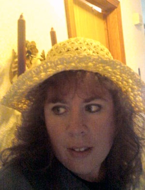 Snapshot of Christy Neiffer in a hat