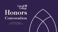 Honors Convocation Graphic