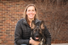 Erica Feuerbacher with a Dog