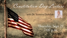 Constitution Day lecture Graphic