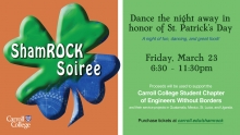 Engineers Without Borders Shamrock Soiree Graphic