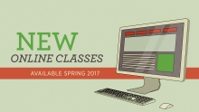 New online classes Graphic of a flat screen computer