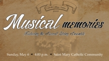 Carroll Choirs Musical Memories Graphic