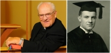 Portraits of Archbishop Hunthausen, young and senior