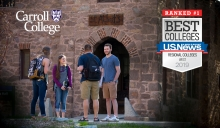 Carroll College Best in the West – Photo of students in front of St. Als