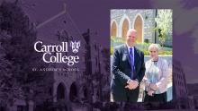 Carroll College President John Cech and St. Andrew Principal GG Grotbo
