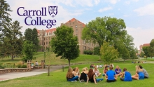 Carroll College Campus where students gather