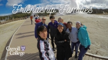 Carroll International Students in Yellowstone National Park