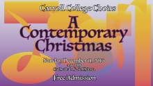 Graphic for Carroll Choirs Christmas Concert