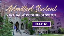 Admitted Student Virtual Advising Session graphic