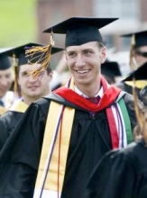 Snapshot of Nathan Pawelek on Graduation Day